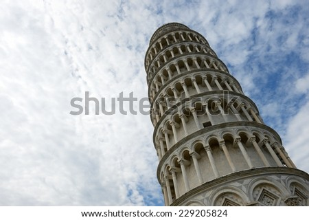 the amazing leaning tower in Pisa, Tuscany- Italy
