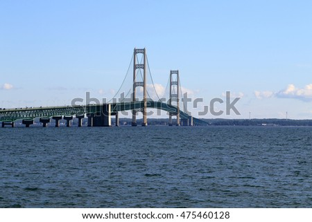 The amazing Mackinac Bridge connecting the mainland to the Upper Peninsula in Northern Michigan.