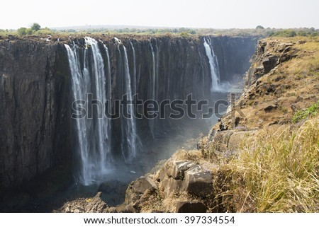 The amazing Victoria Falls Waterfall in Africa - Zimbabwe