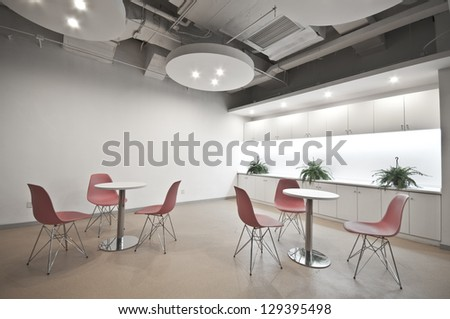 The an empty negotiate office - stock photo