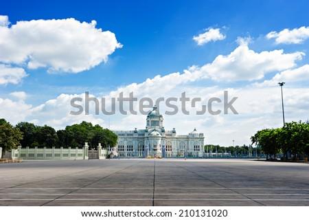 The Ananta Samakhom Throne Hall in Thai Royal Dusit Palace, Bangkok, Thailand. - stock photo