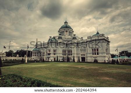 The Ananta Samakom Throne Hall in Bangkok. Thailand. - stock photo
