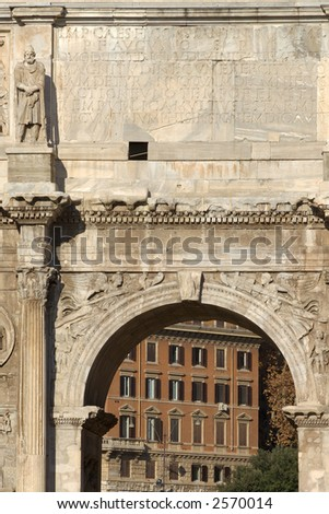 the ancient arch of constantine rome italy