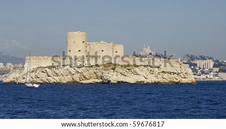 "The ancient castle and prison ""Chateau dIf"" of ""Marseille"" in France"