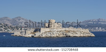 """The ancient castle """"Chateau dIf"""" near Marseille in South France - stock photo"""