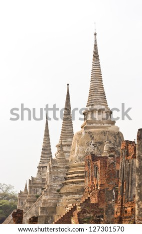 The ancient city of Ayutthaya (Ayutthaya province is the province in Thailand)