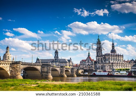 The ancient city of Dresden, Germany. Historical and cultural center of Europe. - stock photo