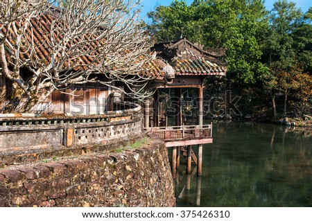 The ancient city of Hue, Vietnam - stock photo