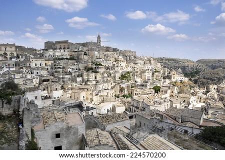 The ancient city of Matera. Basilicata, Italy - stock photo