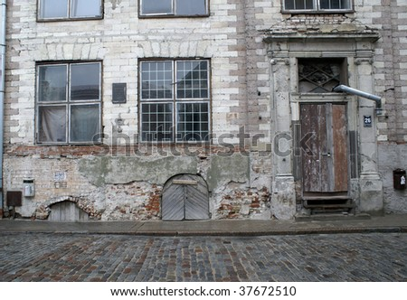 The ancient house in Old Riga (Latvia)