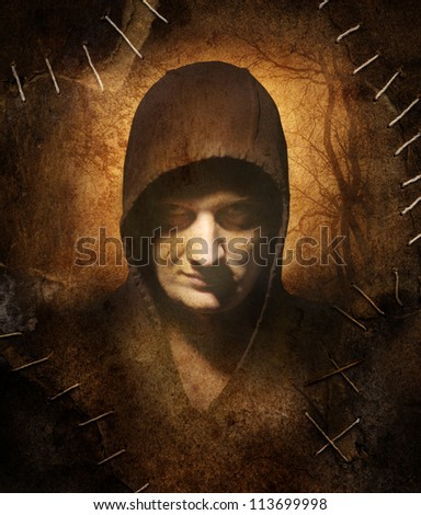 The ancient image in Gothic style - stock photo