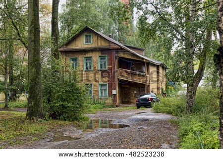 the Ancient shabby wooden house in Russia