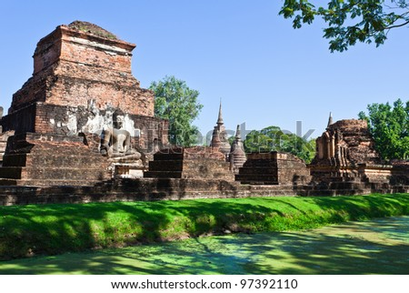 The ancient Sukhothai Historical Park in Thailand