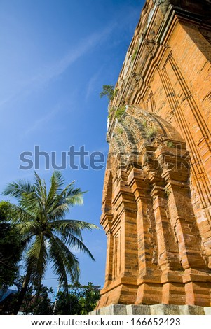 The ancient Thap Doi Cham Tower in Quy Nhon, Vietnam
