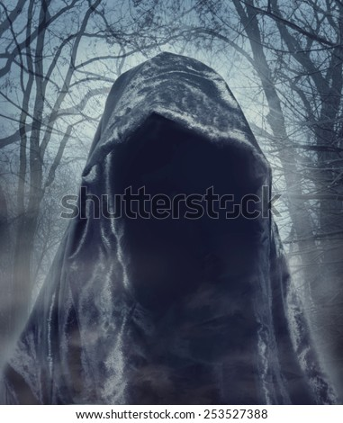 The angel of death. Demon of darkness. Photo manipulation - stock photo