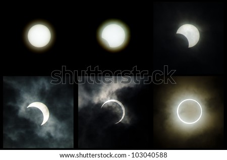 The 2012 annular solar eclipse taken in japan - stock photo