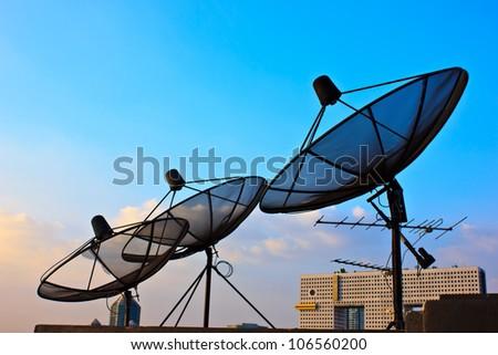 The antenna - stock photo