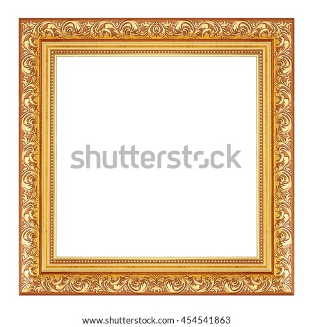 Antique Gold Frame On White Background Stock Photo (Royalty Free ...