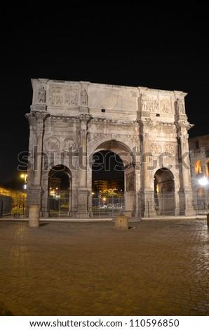 The Arch of Constantine (Arco di Constantino) - stock photo