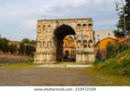 The Arch of Janus in Roma
