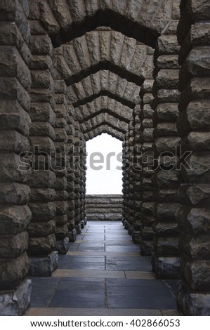 The arch  passage structure