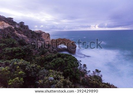 The Arch rock formation in great ocean road.Australia - stock photo