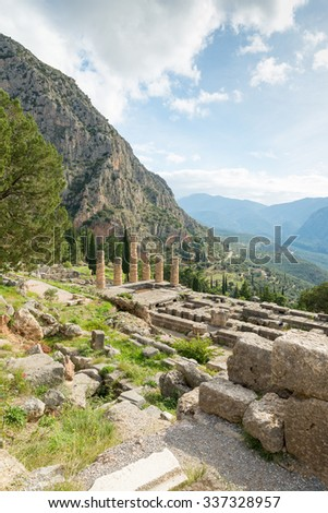 The archaeological site of Delphi has been inscribed upon the the World Heritage List of UNESCO. The ruins of the Temple of Apollo