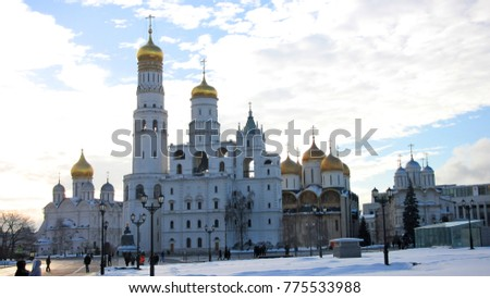 The architectural ensemble of the cathedrals of the Moscow Kremlin