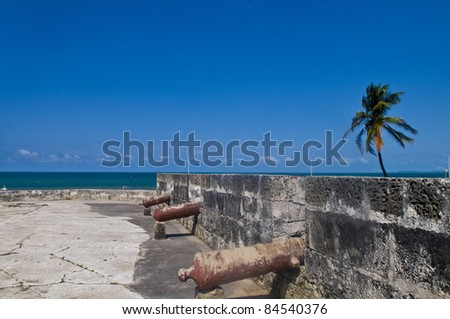 "The architecture of  ""Cartagena de indias"" Colombia - stock photo"