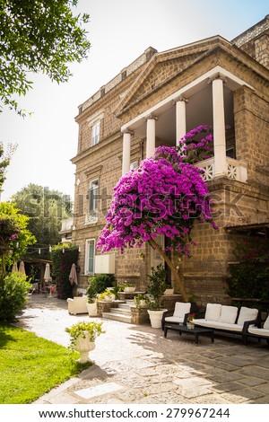 The architecture of the Italian Mediterranean. Italian streets, Mediterranean city landscape. - stock photo