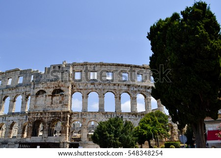 The Arena (small brother of Roman Colosseum) in Pula, Croatia