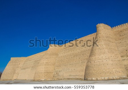 The Ark  fortress located in the city of Bukhara, Uzbekistan 2016