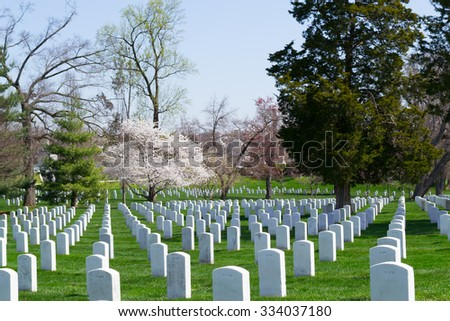 The Arlington Cemetery is the US military cemetery in which soldiers who died in national conflicts since the Civil War are Buried.