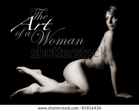 The Art of a Woman with Text Space to the Left