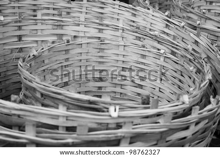 The art of bamboo wicker, Thailand