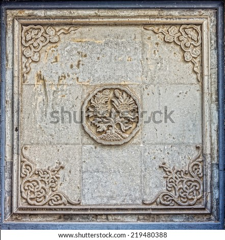 The art of Oriental Chinese design for interior and exterior - stock photo