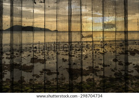 The art of painting seascape background - stock photo