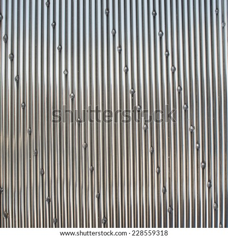 The art of stainless steel - stock photo