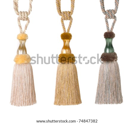 The art of tassels suit for luxury curtain - stock photo