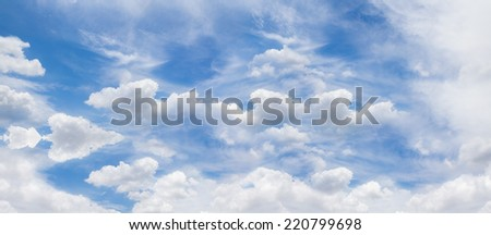 The atmosphere cloudy sky. panorama - stock photo