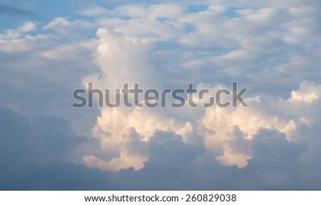 The atmosphere cloudy sky.paronama - stock photo
