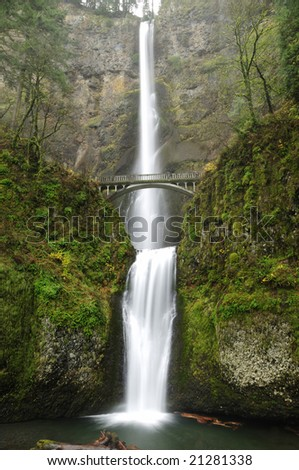 the attractive multnomah falls captured in its peak beauty
