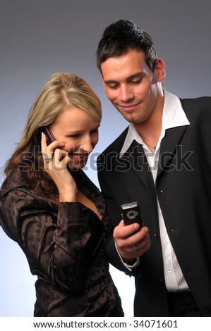 The attractive young managers - stock photo