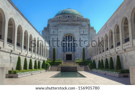 The Australian War Memorial in Canberra - stock photo