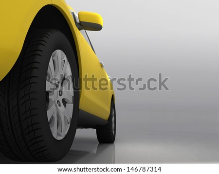 The automobile on a grey background         - stock photo