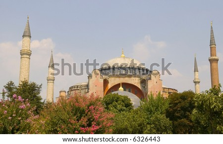 The Aya Sophia mosque in Istanbul Turkey