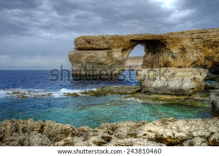 The Azure window Gozo Malta - stock photo
