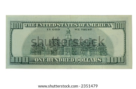 The back of a One hundred dollar bill - stock photo