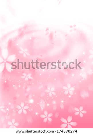 The background image of a cherry tree - stock photo