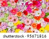The background image of the colorful flowers - stock photo